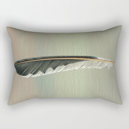 Flicker Feather on Wood Rectangular Pillow