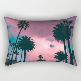 California Sunset Palms Photography Rectangular Pillow