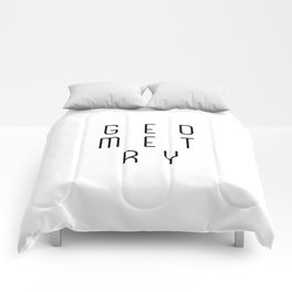 Minimalist Abstract Geometry Optical Illusion Comforters