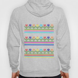 Childish Embroidered Flowers Hoody