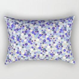 Blue disks Rectangular Pillow