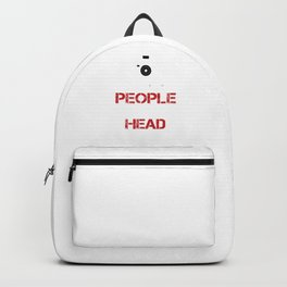 I Shoot People And Sometimes Cut Off Their Head Photography Camera Cam Gifts Backpack