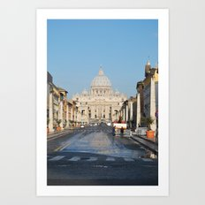 St. Peter's in the Early Morning Art Print