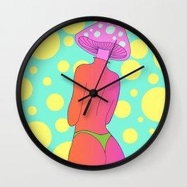shroom lady Wall Clock