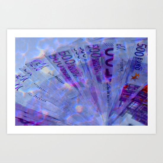 Money laundering Art Print