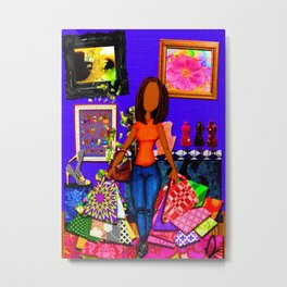 For the Love of Shopping Metal Print