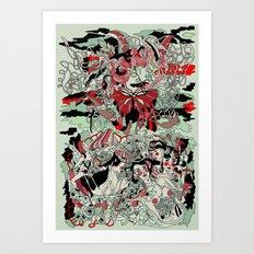 UNINVITED GARDEN Art Print
