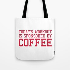 Today's Workout Gym Quote Tote Bag