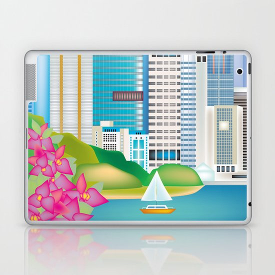 Brisbane, Australia - Skyline Illustration by Loose Petals by loosepetals