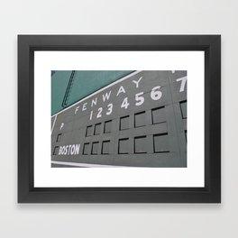 Fenwall -- Boston Fenway Park Wall, Green Monster, Red Sox Framed Art Print