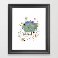 Fight Cloud Framed Art Print