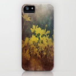 Abstract Yellow Daisies iPhone Case
