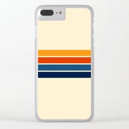 Classic Retro Stripes Clear iPhone Case