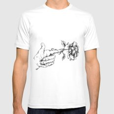 Peace White MEDIUM Mens Fitted Tee