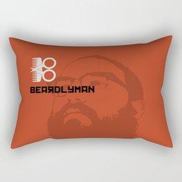 Beardlyman Face on Orange Rectangular Pillow