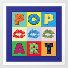 POP Art Lips Art Print