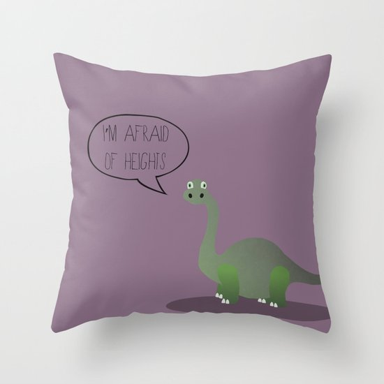 Dinophobia Throw Pillow