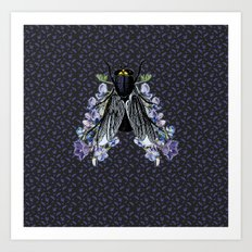 The flowers and the fly Art Print