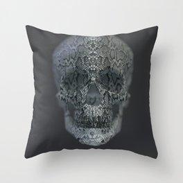 Snake Skull Throw Pillow