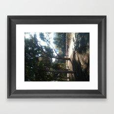 dim white blue light Framed Art Print