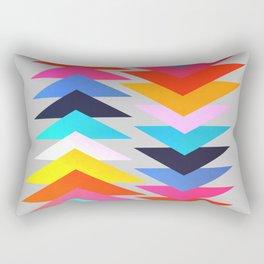 Multicolored triangles Rectangular Pillow