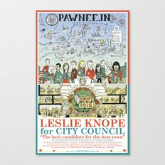 Leslie Knope for City Council - Parks and Recreation Dept. Canvas Print