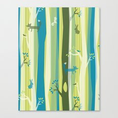 Woodland Stripe Canvas Print