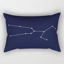 Taurus Star Sign Deep Blue Rectangular Pillow