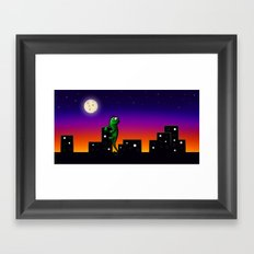 Purple City  Framed Art Print