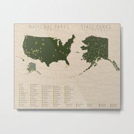 US National Parks - Alaska Metal Print