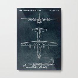 LOCKHEED C-130 HERCULES - First flight 1954 Metal Print