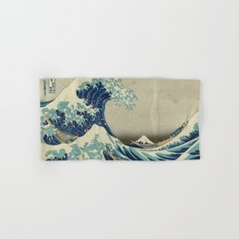 The Classic Japanese Great Wave off Kanagawa Print by Hokusai Hand & Bath Towel