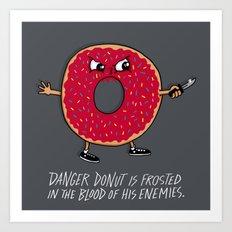 Danger Donut Art Print