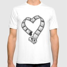Love of Photography White Mens Fitted Tee MEDIUM