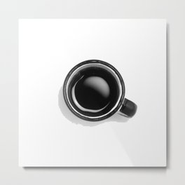 Cup of Coffee (Black and White) Metal Print