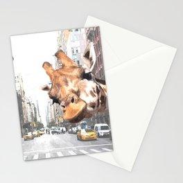 Selfie Giraffe in New York Stationery Cards