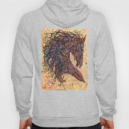Abstract Horse Digital Ink Pollock Style Hoody
