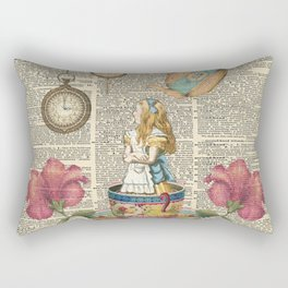 It's Always Tea Time - Alice In Wonderland Rectangular Pillow