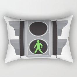 Traffic Light Man Walking Retro Rectangular Pillow