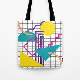 Memphis Pattern - 80s Retro White Tote Bag