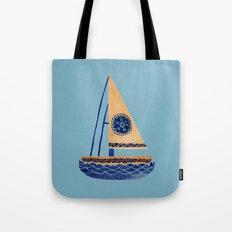 The Tribal Sailboat Tote Bag