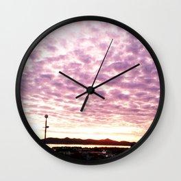 Purple Sky Wall Clock