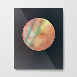 Orange Moon Metal Print