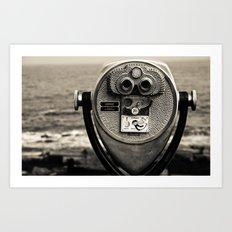Beach Binoculars Art Print