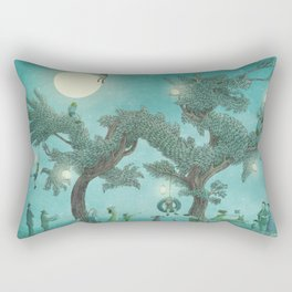 The Night Gardener - Dragon Tree night option  Rectangular Pillow