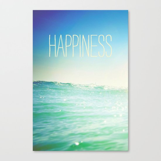 beachy happiness Canvas Print