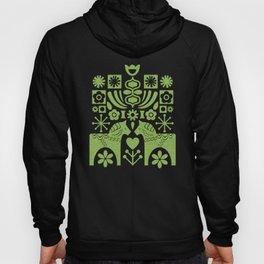 Swedish Folk Art - Greenery Hoody