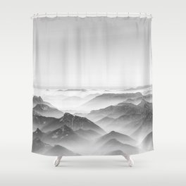 Balloon ride over the alps 2 Shower Curtain