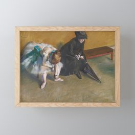 Waiting by Edgar Degas Framed Mini Art Print