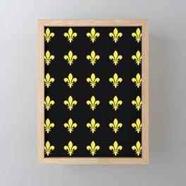 Fleur de lys 4-lis,lily,monarchy,king,queen,monarquia. Framed Mini Art Print